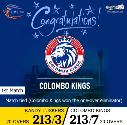 LPLT20 - 1st-match-winners - Colombo Kings